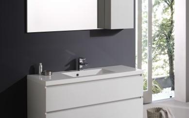 Arredo bagno, i mobili sospesi moderni a doppio lavabo