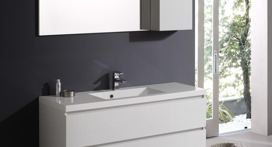 Arredo bagno i mobili sospesi moderni a doppio lavabo - Mobili x bagno moderni ...