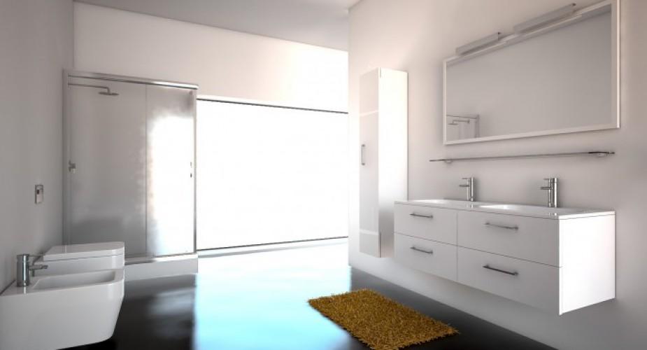 Arredo bagno componibile per utilizzare gli spazi in modo efficiente