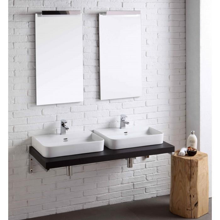 composizione arredamento bagno doppio lavabo - Arredo Bagno Moderno Doppio Lavabo