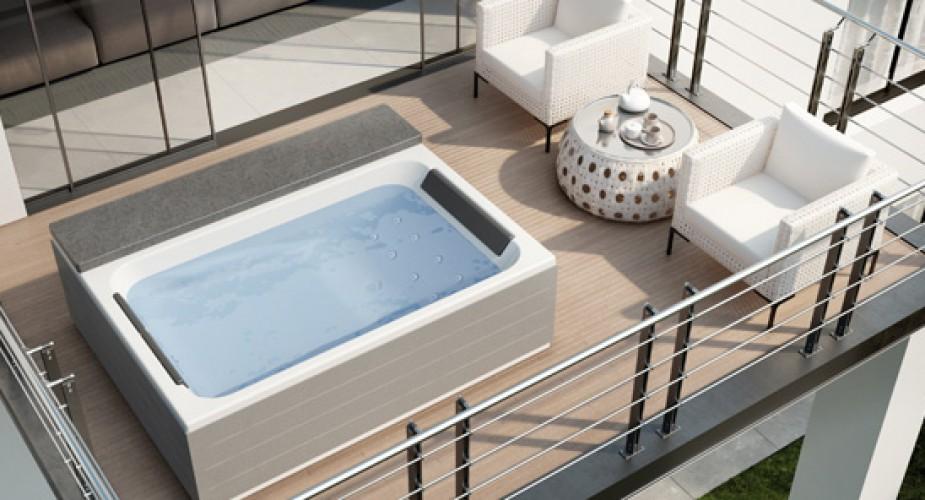 Vasca Da Terrazzo : Scegli una vasca idromassaggio da esterno: relax al 100%!