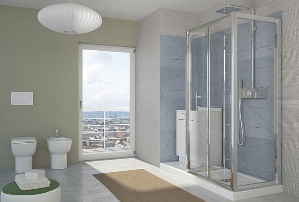 accessori doccia: linee sinuose ed eleganti - bagni da sogno - Bagni Con Doccia Moderni
