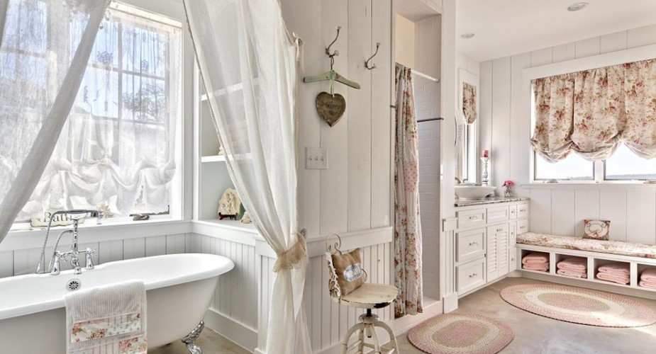 Tappeti bagno shabby chic per un tocco vintage bagni da sogno